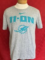 RARE 11-ON Miami Dolphins Fins Up NIKE Dri-Fit shirt NFL Play Football Large