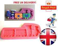 Large Train Silicone Mould  for Fondant Cake Topper Modelling Tools Mold - UK