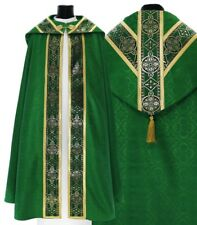 Green Semi Gothic Cope with stole KY113-Z25p Capa pluvial Verde Piviale Chape