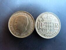 Pièce monnaie MONACO 10 Francs 1951 RAINIER III bon état