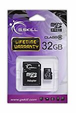 G.Skill 32GB Class 6 Micro SDHC with SD Card Adapter