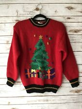 Far & Near Womens Small 'Ugly Christmas' Red Pullover Knit Sweater