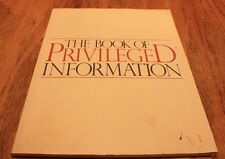 The Book of Privileged Information