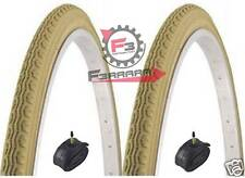 672) 2 TIRES 26 x 1 3/8 37-590mm CREAM + INNER TUBES BICYCLES MOTORCYCLES