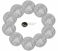 Lot of 10 - 2016 Canadian 1oz Silver Cougar $5 Coin .9999 Fine BU