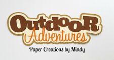 CRAFTECAFE MINDY OUTDOOR ADVENTURES premade paper piecing TITLE scrapbook diecut