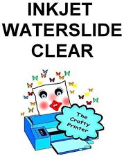INKJET Waterslide Decal Paper -  10 Sheets - CLEAR