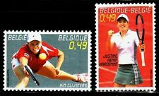 SELLOS BELGICA 2003 3214/15 DEPORTES TENIS 2v.