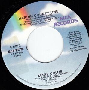"MARK COLLIE - Hardin County Line 7"" 45"
