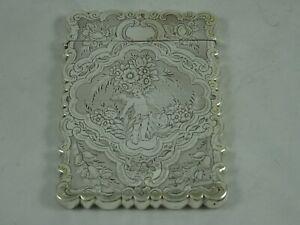 SUPERB, VICTORIAN silver CARD CASE, 1853, 69gm