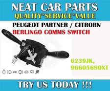 PEUGEOT 206 LUCE WIPER SWITCH COMM 2000 NUOVO 624233 9678 7365xt