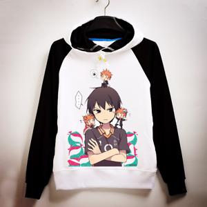 Anime Haikyuu Karasuno Hinata Syouyou Hoodie Sweatshirt Coat Sweater Unisex