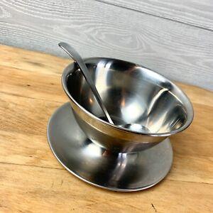 Oneida Stainless Steel Gravy Sauce Ladle & bowl set