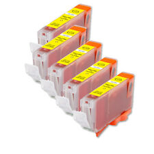 5 PK YELLOW Replacement Ink for Canon BCI-6Y S800 S820 S830 S900 i860 i950 i550