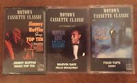 Lot Of 3 Motown Cassette Classic Marvin Gaye Four Tops Jimmy Ruffin