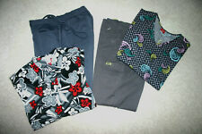Scrub Lot of 4 Pieces, 2 Pant and 2 Tops, Grey's Anatomy, Dickies