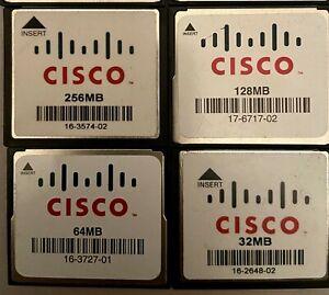 Cisco 256MB 125MB 64MB 32MB Compact Flash CF Card CCNA CCNP CCIE