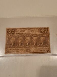 1862 Fractional Note 25 Cent