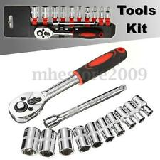 "12Pcs 1/4"" Ratchet Wrench Socket Set Hardware Vanadium Repairing Kit Hand Tools"