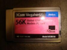 3 COM 56K MODEM PC CARD 3CCM756 LOT OF 10