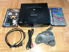 Sega Saturn Schwarz Spielekonsole PAL + Zubehörpaket (Spiele, Kabel, Controller)