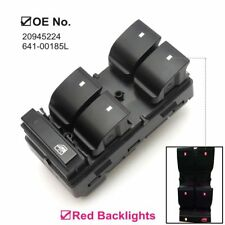 Red Lights Master Window Switch Left Driver for 2008-2015 GMC Acadia 20945224