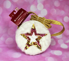 NWT American Girl Doll White Faux Fur & Leather Sequin Star Purse TRU Exclusive!