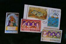 5 St Vincent postage stamps philately philatelic postal kiloware mail