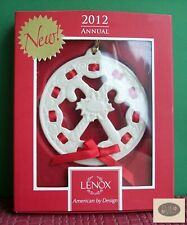Lenox Annual Christmas Wrappings Candy Cane Ornament Dated 2012