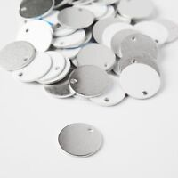 RMP Stamping Blanks, 3/4 Inch Round W / Hole, Aluminum .063 Inch (14 Ga.)-50pack