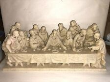 "The Last Supper Figurine Statue Religious 14"" Roman Inc. 2004 Gold Embellish"