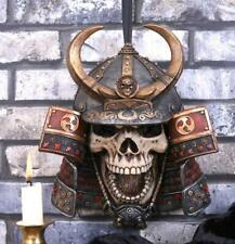 More details for japanese samurai skull wall plaque bushido warrior mask