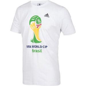 Adidas Official Football Brazil World Cup 2014 Logo Men's T-Shirt (F86167)