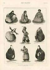1873-Antiguo impresión Persia Irán caracteres sacerdote Syed Street vendedor (170)
