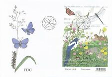 Finland 2003 FDC Sheet - Hedgehog Frog Insects Butterfly Four-leaf Clover Cancel
