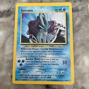 Suicune Holo Rare Pokemon Card Neo Revelation 14/64