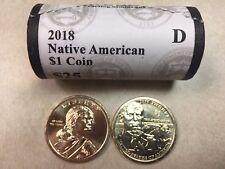 ~H/T~ 2018 D BU SACAGAWEA / JIM THORPE NATIVE AMERICAN GOLD $25 DOLLAR ROLL