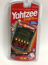 Sealed 1999 YAHTZEE Electronic Handheld Video Game Milton Bradley MB Hasbro NEW