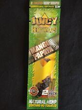 1 x Mango Papaya Juicy Jays Organic Vegan Herbal Toasted Hemp - 2 Wraps / Pouch