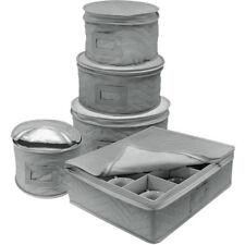 Sorbus Dinnerware Storage 5-Piece Set  (Gray)