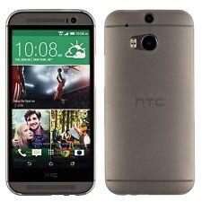 Yemota Pro HTC One M8 Hard Slim Case Schutz Hülle Cover Bumper Tasche Grau