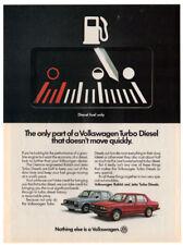 1983 VOLKSWAGEN Rabbit & Jetta Turbo Diesel Vintage Original Print AD Canada en