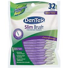 DenTek - Slim Brush Interdental Cleaners - 32PK - Free P&P