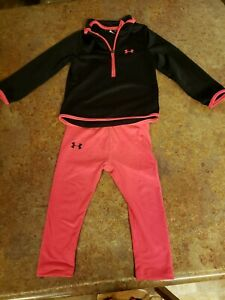 Girl 2t Under Armour Outfit Pink And Black
