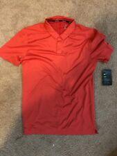 New Nike Golf Dri Fit Breath Texture Polo Shirt Red Ah8469 691 Sz Small