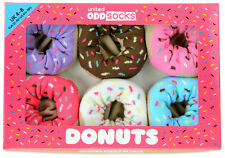 UNITED ODDSOCKS DONUTS SIX DELICIOUS ODD SOCKS FOR LADIES UK 4 - 8 GIFT IDEA