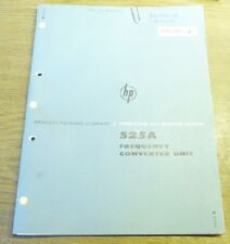 Operating and Service Manual f. HP Frequency Converter Unit 525A