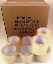 12 Rolls Carton Sealing Clear Packingshippingbox Tape 25 Mil 3 X 55 Yards