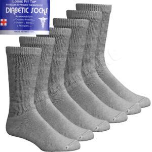Lot 3 6 12 Pairs Men's Circulatory Diabetic Crew Socks Size 9-11 10-13 13-15
