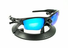 OAKLEY HALF JACKET 2.0 XL POLISHED BLACK FRAME / REVANT ICE BLUE CUSTOM LENSES